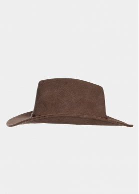 Brown panama with brown leather belt