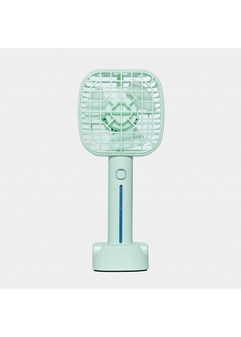 Hand mini fan in pastel green
