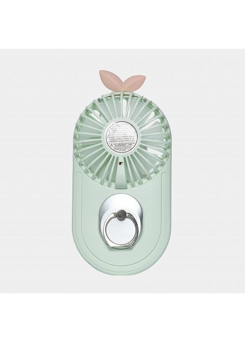 Plant hand mini fan in pastel green