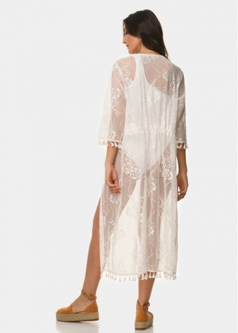 White laced caftan