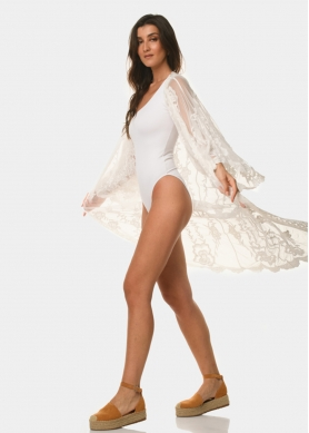 White long-sleeve caftan