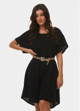 Black cotton dress
