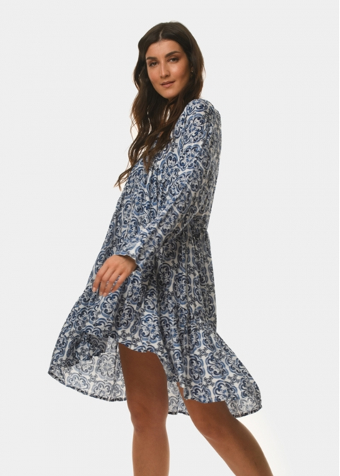 Azure pattern dress