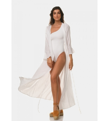 White cotton caftan