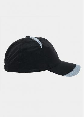 Black plain active cap