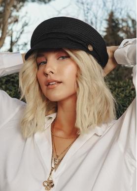 Black, captain's hat