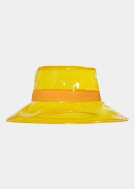 Yellow vinyl hat