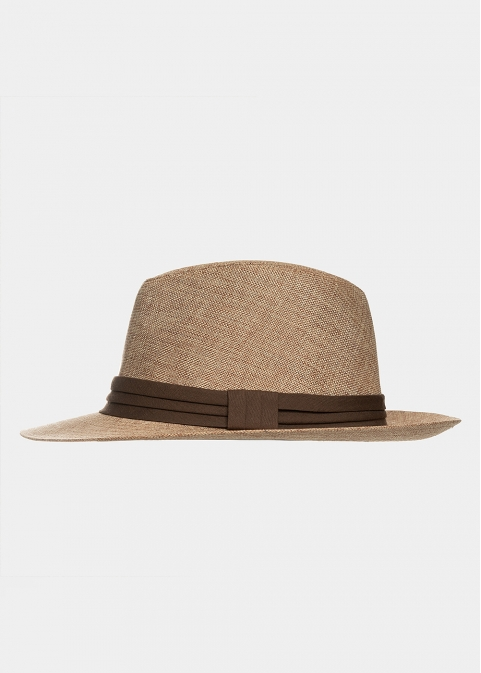 Brown panama with brown strap
