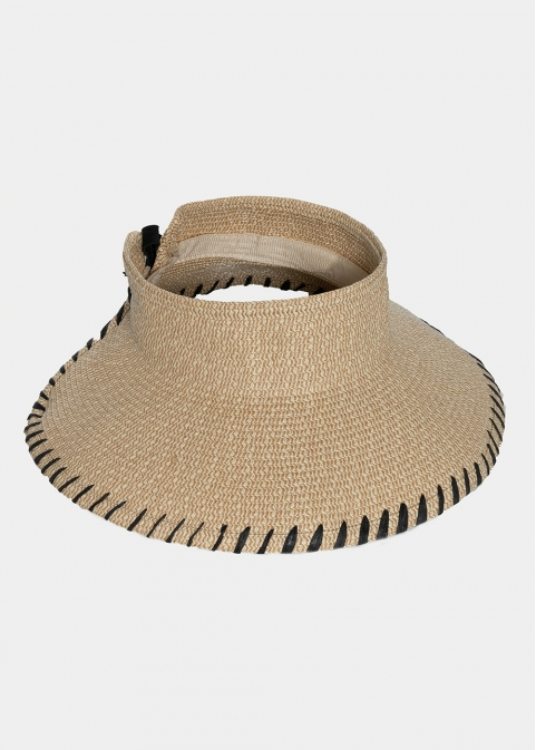 Top opened hat with knitted rope
