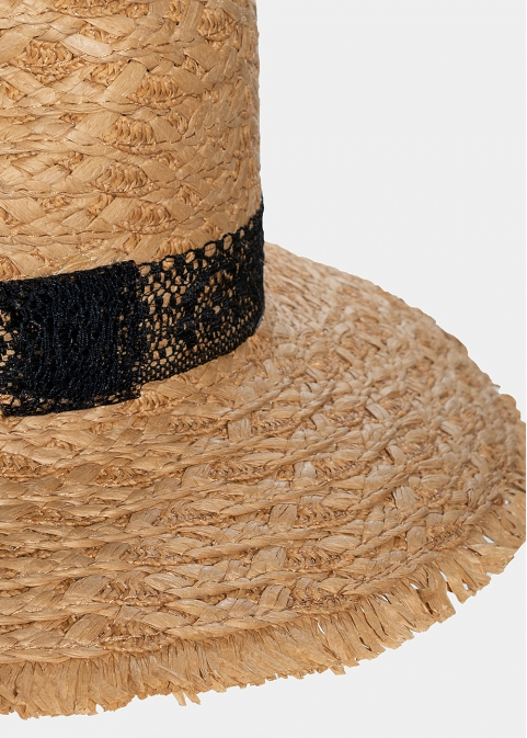 Big straw braided hat
