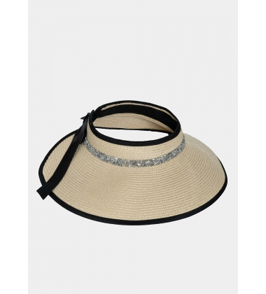 Top opened straw hat