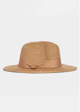 Brown Straw Panama with Brown Strap