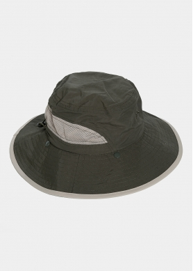 Olive active hat with neck protector