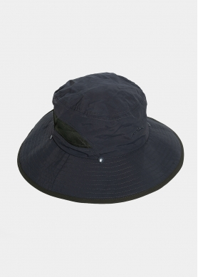 Grey active hat with neck protector