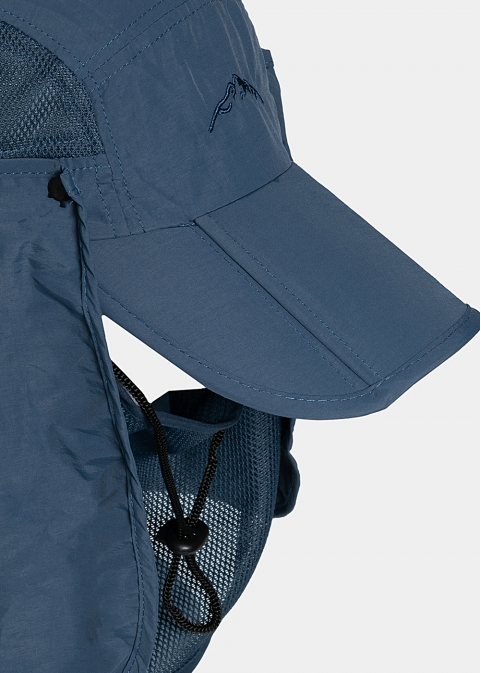Blue active jockey with neck protector