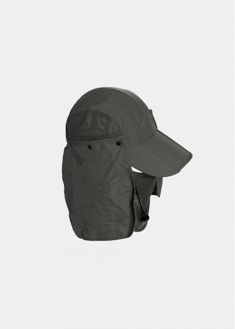 Olive active jockey with neck protector